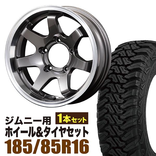 【1本組】ジムニー ホイール タイヤセット MUDSR7 Jimny 5.5J-20GM accelera(アクセレラ) M/T-01 185/85R16 105/103L 1本セット