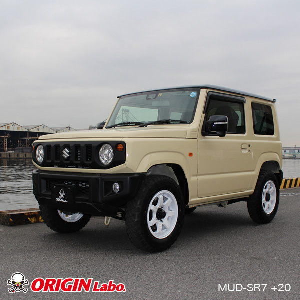 MUDSR7 Jimny 5.5J+20シャインホワイト TOYO OPEN COUNTRY A/T plus 175/80R16 91S 4本セット