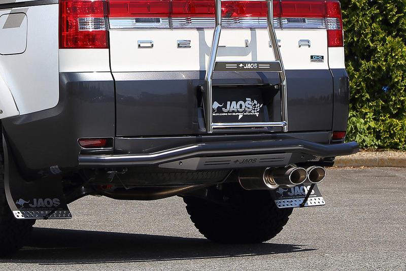 JAOS リヤスキッドバー ブラック/ブラック デリカ D:5 07.01- B154304D REAR SKID BAR 送料無料