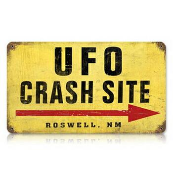 インテリア雑貨 インテリアグッズ サインボード インテリア用品 生活雑貨 最新アイテム クリアランスsale 期間限定 アメリカン 看板 Site 取寄品 サイン Crash V-632 UFO スティール