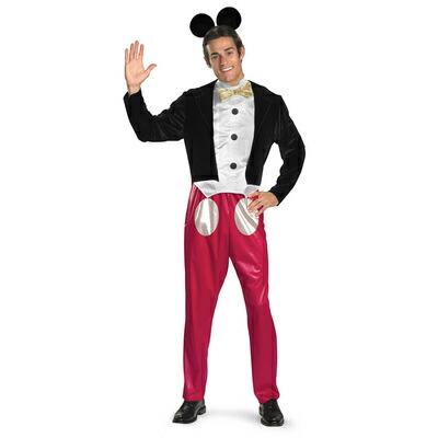 !! ミッキーマウス 大人用 XL(42-46) 【 コスプレ 衣装 仮装 ハロウィン 余興 大人用 メンズ アニマル 動物 ミッキーマウス 男性用 コスチューム パーティーグッズ 】