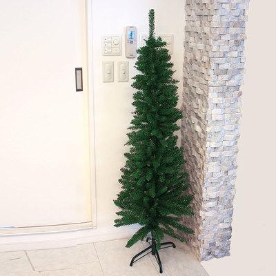 【あす楽12時まで】 クリスマスツリー 150cm クリスマススリムツリー 【 飾りなし 装飾 細い グリーンヌードツリー 】