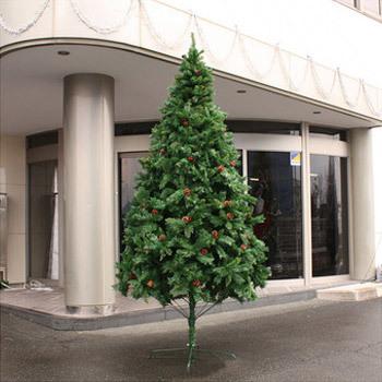 【送料無料】 クリスマスツリー Funderful 300cmクリスマスツリー(プレミアスタイリッシュ/松ぼっくり) 【 大型 飾りなし 大きい 装飾 グリーンヌードツリー 】