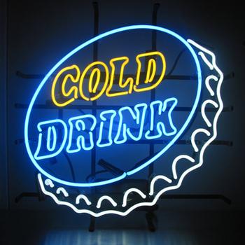 【取寄品】 ネオンサイン Cold Drink 【 店舗装飾品 POP 飾り 壁掛け照明 販促品 デコレーション ディスプレイ 】