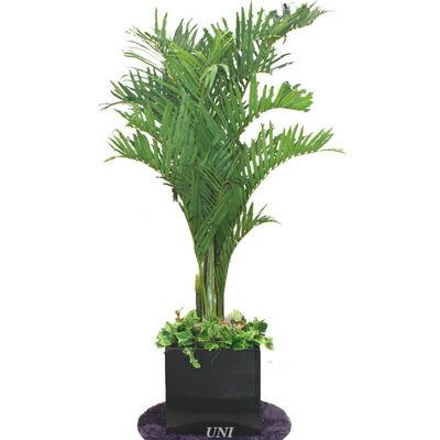 【送料無料】 Funderful 人工観葉植物 光触媒 アレカヤシ 210cm 【 フェイクグリーン 光触媒 消臭 ヤシの木 インテリア インテリアグリーン 抗菌 大きい 椰子 】