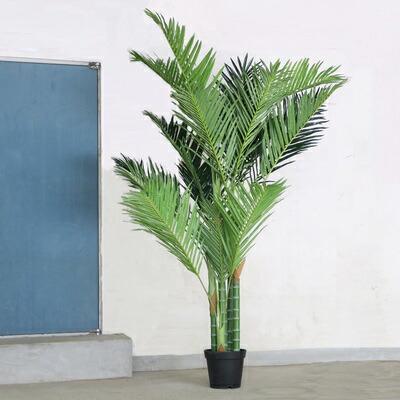 【送料無料】 Funderful 人工観葉植物 光触媒 アレカヤシ 210cm 【 フェイクグリーン 光触媒 消臭 ヤシの木 インテリア 抗菌 椰子 インテリアグリーン 大きい 】