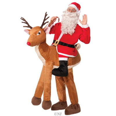 【あす楽12時まで】 【送料無料】 トナカイに乗ったサンタクロース 【 コスプレ 衣装 仮装 大人 メンズ クリスマス コスチューム おもしろ サンタクロース トナカイ 男性用 サンタコスチューム 大人用 おもしろコスチューム 面白 爆笑 笑える ウケる 】
