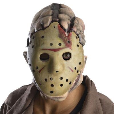 【送料無料】 大人用ジェーソン2ピースマスク 【 コスプレ 衣装 ハロウィン 大人用 パーティーグッズ かぶりもの 映画 ホラー 怖い マスク ジェイソン ホラーマスク 公式 ハロウィン 衣装 プチ仮装 変装グッズ ホッケーマスク 】