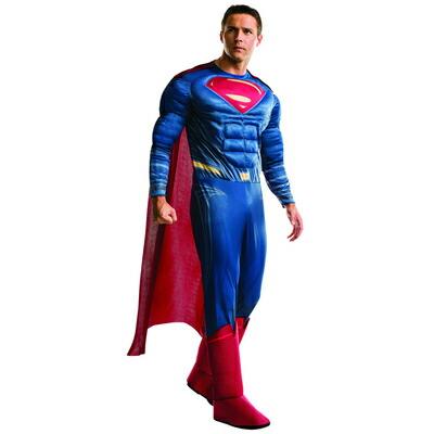 【送料無料】 DXスーパーマン XL 【 コスプレ 衣装 ハロウィン 仮装 余興 大人用 メンズ アメコミ コスチューム 大きいサイズ スーパーマン DCコミック 男性用 映画キャラクター 正規ライセンス品 公式 パーティーグッズ 】