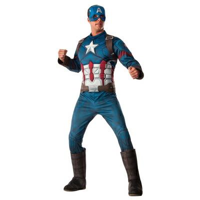 【送料無料】 DX キャプテンアメリカ XL 【 コスプレ 衣装 仮装 ハロウィン 余興 大人用 メンズ コスチューム アメコミ マーベル グッズ アベンジャーズ キャプテンアメリカ ca 公式 映画キャラクター 正規ライセンス品 パーティーグッズ 大きいサイズ MARVEL 】