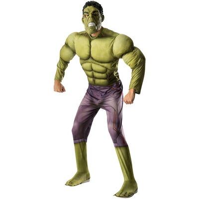 大人用デラックスハルク 【 コスプレ 衣装 ハロウィン 仮装 余興 大人用 メンズ コスチューム アメコミ マーベル グッズ アベンジャーズ ハルク 正規ライセンス品 パーティーグッズ 公式 男性用 映画キャラクター Hulk MARVEL 】