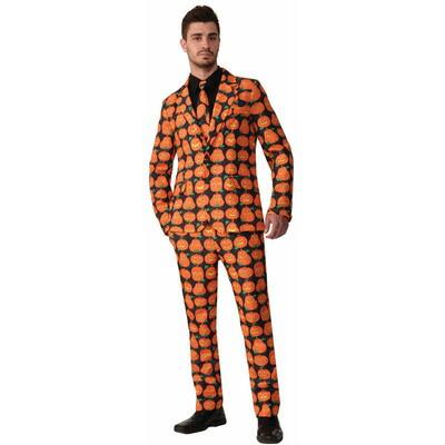 【あす楽12時まで】 【送料無料】 パンプキンスーツ&ネクタイ XL 【 仮装 衣装 コスプレ ハロウィン 余興 大人用 メンズ 大きいサイズ 笑える カボチャ 男性用 かぼちゃ パーティーグッズ コスチューム 】