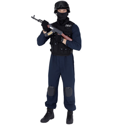 【あす楽12時まで】 CLUB KING SWAT(スワット) 【 コスプレ 衣装 仮装 ハロウィン 余興 大人用 メンズ ポリス コスチューム 警官 警察官 ポリスマン パーティーグッズ 男性用 お巡りさん 】