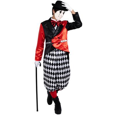 【あす楽12時まで】 CLUB KING Joker Clown(ジョーカークラウン) 【 コスプレ 衣装 仮装 ハロウィン 余興 大人用 メンズ 服 ピエロ ジョーカー パーティーグッズ ピエロ服 男性用 道化師 コスチューム ぴえろ ピエロ衣装 】