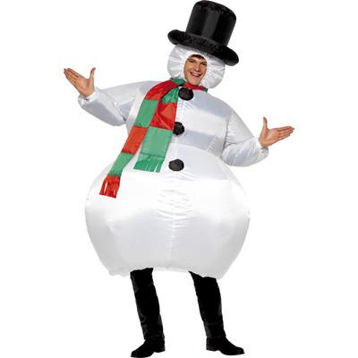 【送料無料】 インフレータブル スノーマン 【 衣装 コスプレ 笑える メンズ 爆笑 レディース 雪ダルマ おもしろコスチューム スノーマンコスチューム 雪だるま 女性用 面白 男性用 大人用 仮装 ウケる クリスマス 】