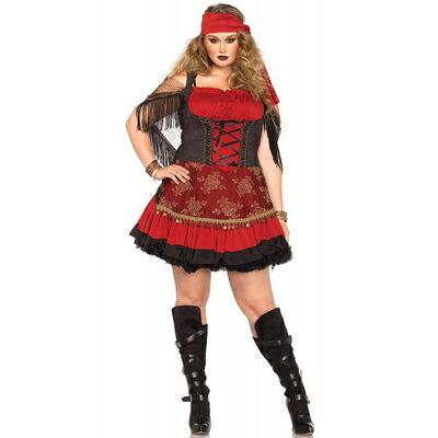 【送料無料】 パイレーツヴィクセン 1X-2X 【 コスプレ 衣装 ハロウィン 仮装 大人 コスチューム 女海賊 大きいサイズ レディース 女性用 大人用 パーティーグッズ 】