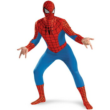 【あす楽12時まで】 !! DX スパイダーマン 大人用 XL(42-46) 【 コスプレ 衣装 仮装 ハロウィン 余興 大人用 メンズ コスチューム アメコミ 大きいサイズ マーベル グッズ スパイダーマン MARVEL 男性用 パーティーグッズ 公式 映画キャラクター 正規ライセンス品 】