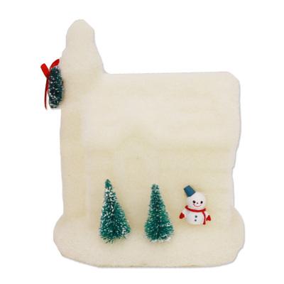 雑貨 christmas クリスマス飾り イベント ハウスモチーフ 家 装飾 パーティーグッズ お気に入り xmas デコレーション 14cmフロッキーハウス 休日 オブジェ 置物 あす楽12時まで 飾り クリスマスパーティー 3点セット