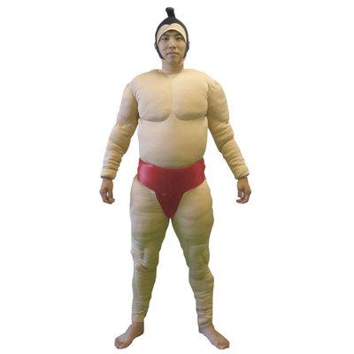 【送料無料】 相撲セット 相撲スーツ3点セット 赤 【 仮装 衣装 コスプレ ハロウィン 余興 大人用 メンズ 相撲 まわし 男性用 関取 コスチューム すもう お相撲さん 力士 パーティーグッズ 】