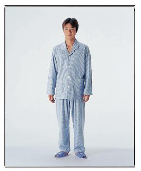 福祉用品 衣類 介護用品 取寄品 制菌 機能付き M ファスナーズボン付 代引き不可 パジャマセット 紳士 開催中 介護パジャマ
