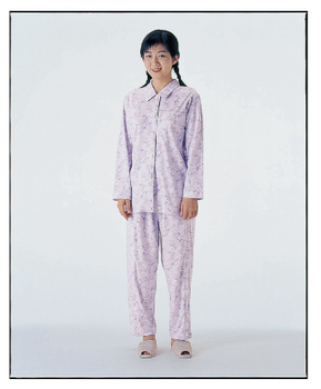 介護用品 福祉用品 衣類 取寄品 制菌 期間限定今なら送料無料 機能付き L 本店 ファスナーズボン付 パジャマセット 介護パジャマ 婦人