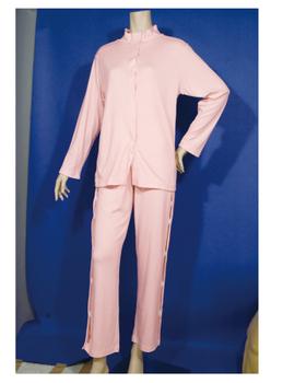 値引き 介護用品 衣類 福祉用品 取寄品 あしたも元気 正規取扱店 S ワンタッチパジャマ 上下セット 女性用