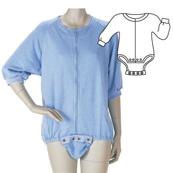 介護用品 定番から日本未入荷 福祉用品 衣類 取寄品 フドーボディースーツ 美品 グレーSサイズ Sサイズ