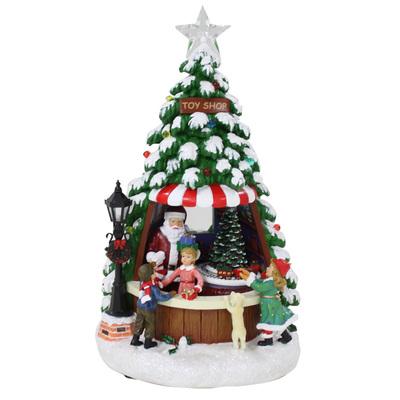 【送料無料】 【取寄品】 LED付オルゴール クリスマスツリー 【 オブジェ 雑貨 パーティーグッズ 置物 装飾 クリスマス飾り プレゼント クリスマスパーティー デコレーション 】