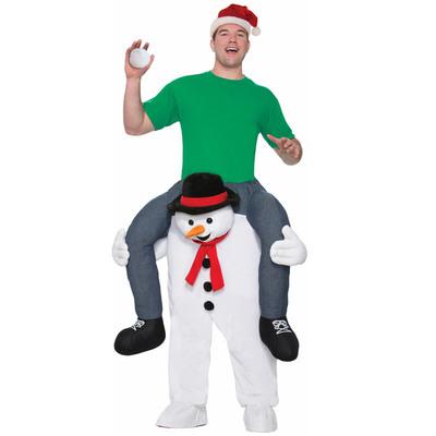 【送料無料】 ライド・ア・スノーマン 大人用 Std 【 コスプレ 衣装 ウケる スノーマンコスチューム 仮装 おもしろコスチューム 笑える 女性用 クリスマス 面白 男性用 爆笑 雪ダルマ 雪だるま レディース メンズ 】