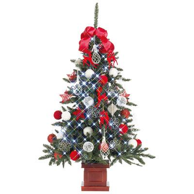 【送料無料】 クリスマスツリー セットツリー プレミアム優 レッド&ホワイト 150cm 【 クリスマス 飾り 装飾 】