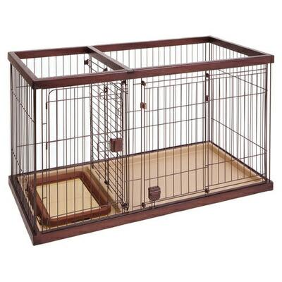 【送料無料】 【取寄品】 Petio(ペティオ) トイレのしつけが出来るドッグルームサークル ブラウン レギュラー 【 小型犬用 ペットグッズ 小さい 犬用品 いぬ ペット用品 イヌ 】