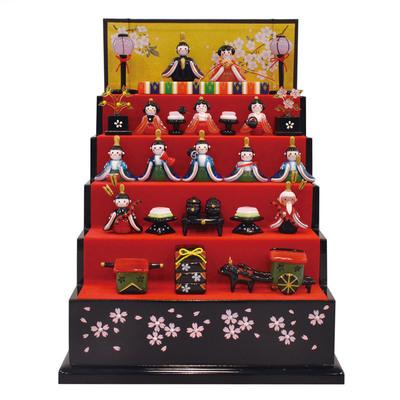 【取寄品】 雛人形 ひな人形 コンパクト ガラス細工 愛され雛五段飾り 【 POP デコレーション 雛飾り ひな祭り 玩具 ひなまつり 桃の節句 フィギュア オモチャ おもちゃ 販促品 店舗装飾品 ディスプレイ 雛祭り お雛様 】