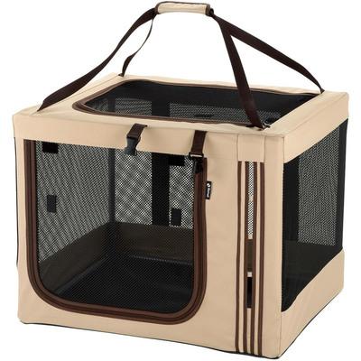【送料無料】 【取寄品】 リッチェル たためる3WAYペットケージ 640 茶 【 ペットグッズ いぬ ペット用品 イヌ 折りたたみキャリー 犬用品 】