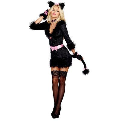 【送料無料】 ブラックキャット L 【 衣装 コスプレ ハロウィン 仮装 大人 コスチューム アニマル 動物 女性用 パーティーグッズ レディース 猫 大人用 ネコ 】