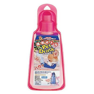 犬用品 携帯給水 ペットグッズ イヌ ペット用品 携帯水筒 いぬ 飼育用品 取寄品 ドギーマン 通常便なら送料無料 S ペットグッツ 携帯ボトル ピンク ショッピング ペットドリンク