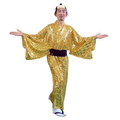 【あす楽12時まで】 【送料無料】 スパーク着流し 【 衣装 コスプレ ハロウィン 仮装 大人 コスチューム 大人用 メンズ 男性用 和風 パーティーグッズ 時代劇 】