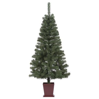 【取寄品】 クリスマスツリー カナディアンツリー 四角ポット付 180cm 【 ポット付き 飾りなし 装飾 ポットツリー グリーンヌードツリー 】