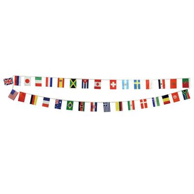 装飾グッズ 世界の国旗 セールSALE%OFF 小学生 販促品 運動会用品 デコレーション 信用 POP 万国旗 連続旗 フラッグ ディスプレイ 9m 飾り あす楽12時まで スポーツ 店舗装飾品 Newワールドフラッグ32