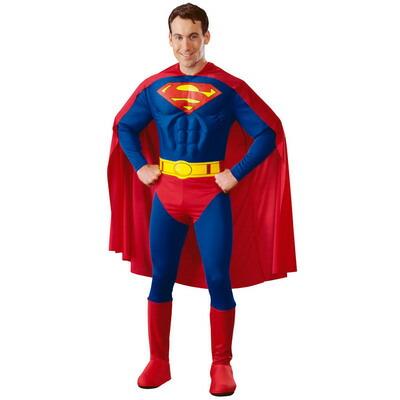 【送料無料】 大人用デラックススーパーマンM 【 コスプレ 衣装 ハロウィン 仮装 余興 大人用 メンズ アメコミ コスチューム スーパーマン 公式 男性用 パーティーグッズ DCコミック 映画キャラクター 正規ライセンス品 】