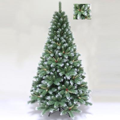 【あす楽12時まで】 【送料無料】 ! クリスマスツリー Funderful 210cmクリスマスツリー(木の実装飾付、葉先白) 【 クリスマス 飾り 雪 ホワイト ヌードツリー ホワイトツリー 】
