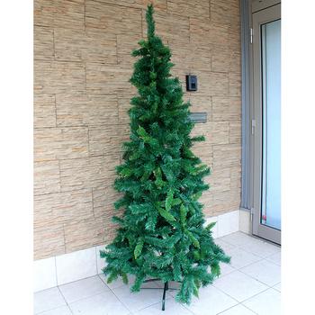 【あす楽12時まで】 【送料無料】 クリスマスツリー Funderful 210cmクリスマスツリー(グリーンヌード/スリム型) 【 装飾 飾りなし グリーンヌードツリー 細い スリムツリー 】