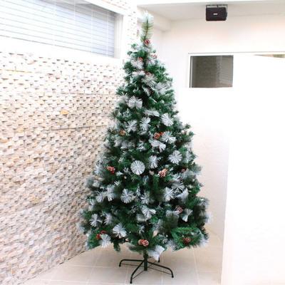 【送料無料】 !! クリスマスツリー Funderful 210cmクリスマスツリー(ホワイトパイン/松ぼっくり&木の実) 【 クリスマス 飾り 雪 ホワイト ヌードツリー 装飾 白 ホワイトツリー 】