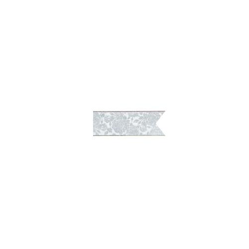 あす楽12時! マスターボウリボン エレガントローズ ホワイト&シルバー #9幅3.8cm1巻【PIN52926】