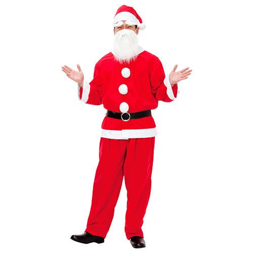 【クリスマスパーティーグッズ】サンタクロース メンズ1セット  JIGXM01559