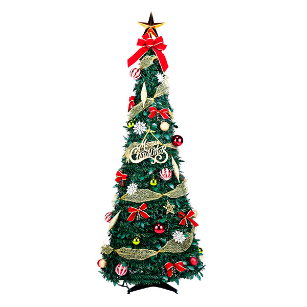 【クリスマスパーティーグッズ】フォールディングレッドツリー120cm1台 YIGXM98650