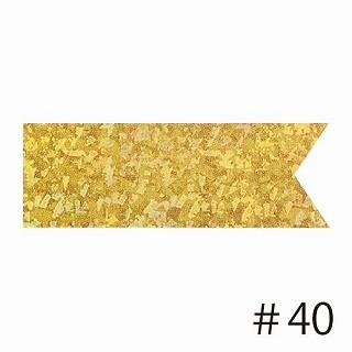 あす楽12時! マスターボウリボン クリスタルナゲットゴールド #40幅6.3cm1巻【pin42777】