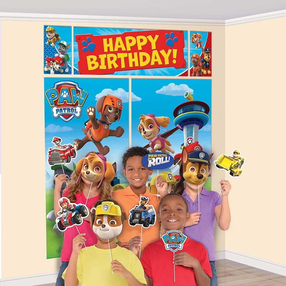 誕生日 上等 パーティ― 飾り 直輸入品激安 パーティーグッズ ウィズ シーンセッター プロップキット パウパトロール