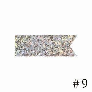 あす楽12時! マスターボウリボン クリスタルナゲットシルバー #9幅3.8cm1巻【pin42774】