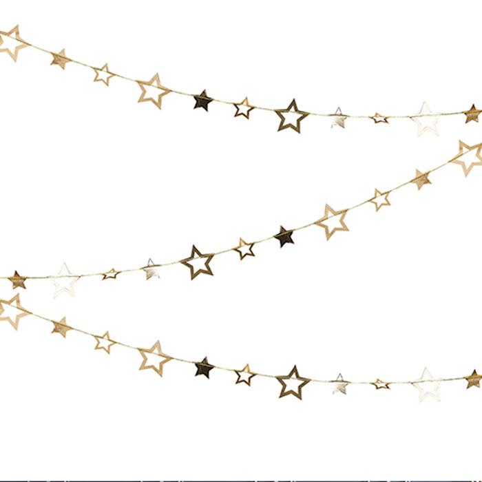 <title>クリスマスパーティーグッズ クリスマスデコレーション ポップザバブリー ガーランド スター ゴールド ジンジャーレイ 高い素材 ginger ray GGRPOP-412</title>
