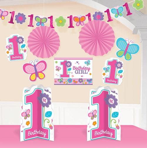 ファーストバースデー 飾り付け スイートガール ルームデコキット 飾りつけ 1歳のお誕生日 激安挑戦中 おトク パーティーグッズ デコレーション 誕生日会 あす楽 1才 女の子